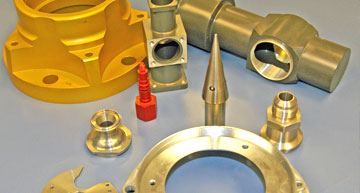 Grouping of various CNC machined parts | Capabilities